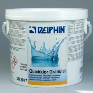 Quickklor/Hurtigoppløsende klorgranulat 56%, 3kg